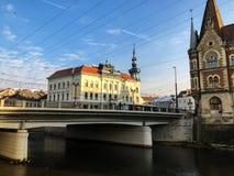 桥梁在科鲁Napoca 免版税库存图片