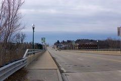 桥梁在罗切斯特,密执安 免版税图库摄影
