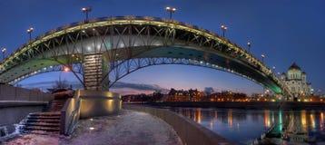 桥梁在莫斯科,俄罗斯 免版税图库摄影