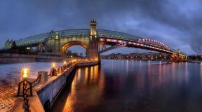 桥梁在莫斯科,俄罗斯 免版税库存图片