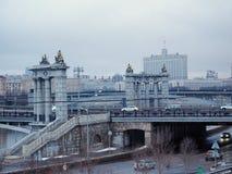 桥梁在莫斯科 免版税库存图片