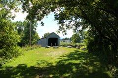 桥梁在谢菲尔德,马萨诸塞 库存照片