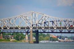 桥梁在路易斯维尔,肯塔基 库存照片