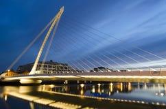 桥梁在都伯林,爱尔兰。 库存图片