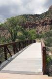 桥梁在锡安国家公园 免版税图库摄影