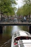 桥梁在阿姆斯特丹 免版税库存照片