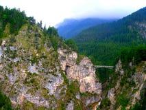 桥梁在阿尔卑斯 库存照片