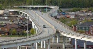 桥梁在阿拉斯加 库存照片