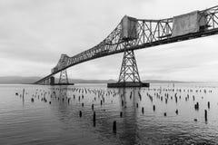 桥梁在Astoria,俄勒冈 免版税库存照片