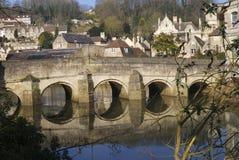桥梁在Avon的布雷得佛。英国 库存照片