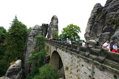 桥梁在Bastai 免版税库存照片