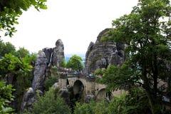 桥梁在Bastai 免版税图库摄影