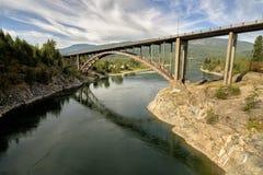 桥梁在Castlegar 库存照片
