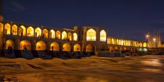 桥梁在Esvahan,伊朗 免版税库存照片