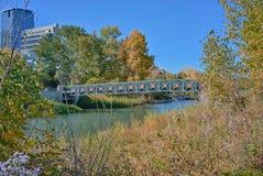 桥梁在Island Park王子的 免版税库存照片