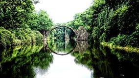 桥梁在Kromlau 免版税库存照片