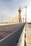 桥梁在Nonthaburi泰国 库存照片