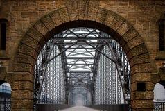 桥梁在Wilhelmsburg,汉堡 免版税库存照片