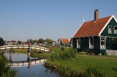 桥梁在Zaanse Schans 库存图片