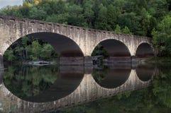 桥梁坎伯兰郡秋天石头 免版税库存照片