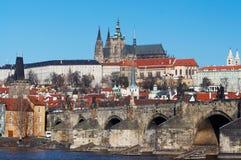 桥梁城堡查尔斯・布拉格 库存图片