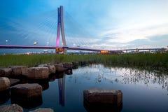 桥梁城市新的北部日落台北taiw 库存照片