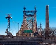 桥梁城市新的queensboro约克 库存照片