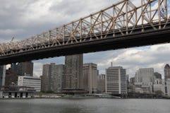 桥梁城市新的queensboro约克 免版税库存照片