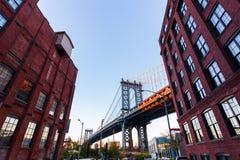 桥梁城市曼哈顿纽约 免版税图库摄影