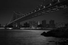 桥梁城市曼哈顿纽约 库存照片