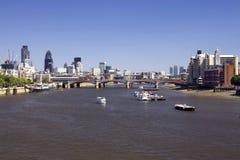 桥梁城市泰晤士 免版税图库摄影