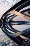 桥梁城市风景 免版税库存照片