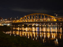 桥梁夜场面 图库摄影