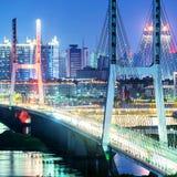桥梁夜 免版税图库摄影