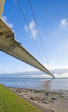 桥梁大在河暂挂 免版税库存图片