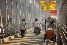 桥梁奶油色冰供营商 免版税库存照片