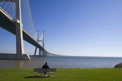 桥梁孤独的前辈 免版税库存照片