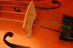 桥梁小提琴 免版税库存图片