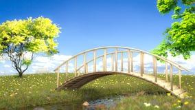 桥梁小河 免版税库存图片