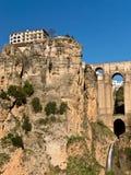 桥梁峡谷朗达西班牙tajo 免版税库存图片