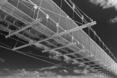 桥梁工程横向做人 库存照片