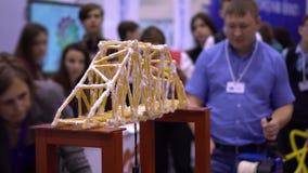 桥梁布局强度试验博览会中心 影视素材