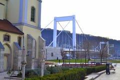 桥梁布达佩斯伊丽莎白 图库摄影