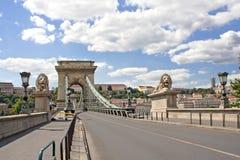 桥梁布达佩斯狮子 库存照片