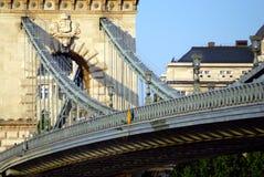 桥梁布达佩斯链匈牙利 图库摄影