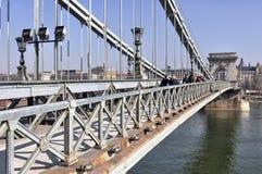 桥梁布达佩斯链子 库存照片