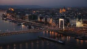 桥梁布达佩斯elisabeth 影视素材
