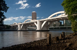 桥梁布里斯班快活的s威廉 免版税图库摄影