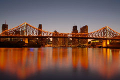 桥梁布里斯班故事 库存图片