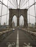 桥梁布鲁克林塔 免版税库存图片